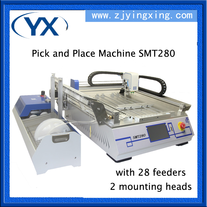 2017 Limited Time Sales!SMT Production Line Automatic PCB Machine Pick and Place Machine SMT280 With 28 Feeders+2 Placement Head