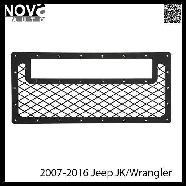 Custom Made Jeep Accessories 2007-2016 Jeep JK Wrangler Front Light Bar Grilles
