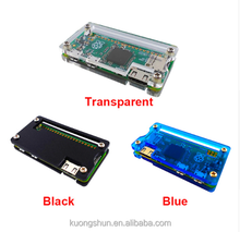 Raspberry Pi Zero W Acrylic Case Transparent / Black / Blue Clear Box Cover Shell RPI Zero for Raspberry Pi Zero