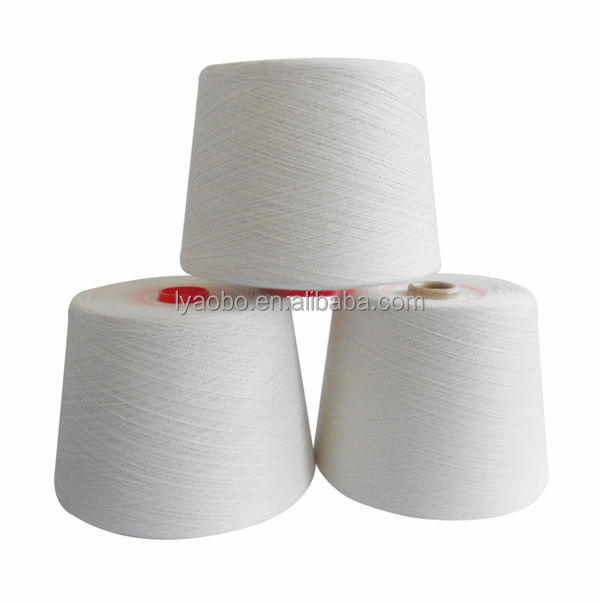 Raw white 20s polyester spun yarn / 100 polyester virgin yarn / polyester spun yarn