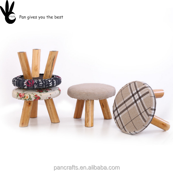 Pan wooden fashion living room home high quality wood kids stool