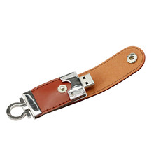 Leather USB Flash Drive 4GB 8GB 16GB 32GB keychain Pendrive 64GB flash Memory stick Pen Drive