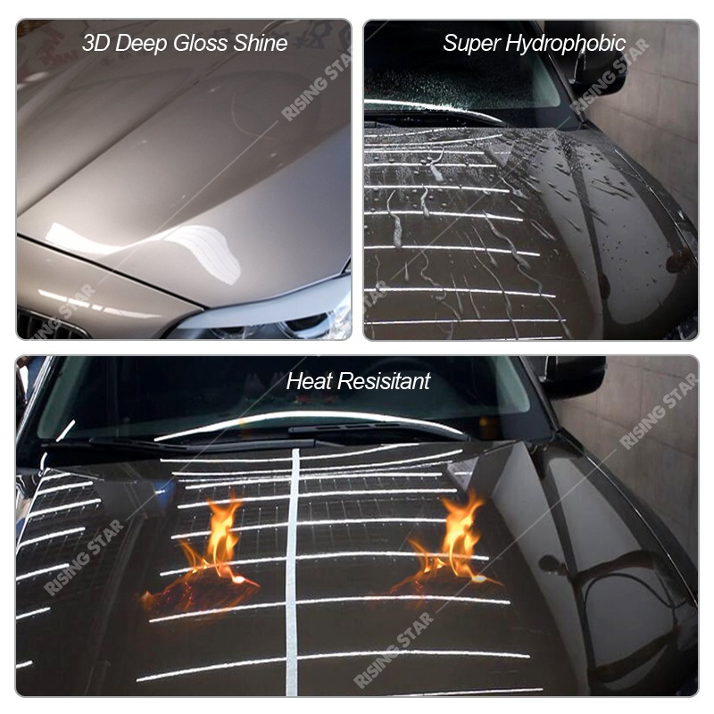 Lapisan Keramik Mobil, Nano Super Hidrofobik Berlian Anti Gores 9H Lapisan Keramik Mobil Permanen untuk Badan Mobil 100Ml