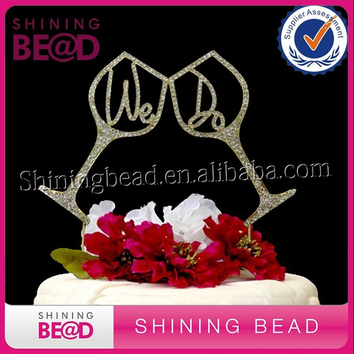 Various Styles We Do shape rhinestonel Wedding Cake Topper For Cake wedding party Decoration