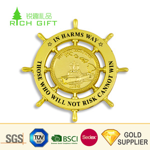 China zhongshan manufacturer custom metal stamping enamel royal malaysia navy building coins