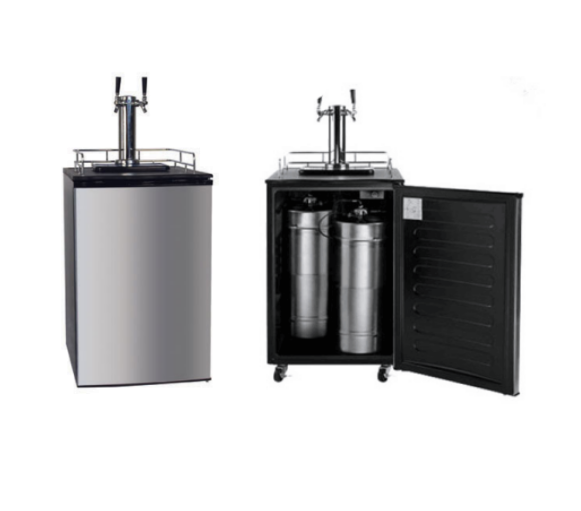 128L 170L Beer Keg Cooler Draft Beer Fridge Tower Beer Dispenser With Single Or Dual Tap