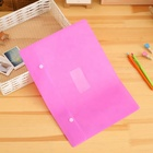 Custom Clear Pockets Refillable Rings Display Book Document File Folder