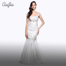 CAIJIA Elegant Beading And Embroidery Mermaid Braces Wedding Dress