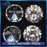 Cubic Zirconia Round Cubic zirconia Shape 10.00 MM / 4.00 CT DIAMOND WEIGHT SUPER & SUPER QUALITY CLEAR WHITE COLOR