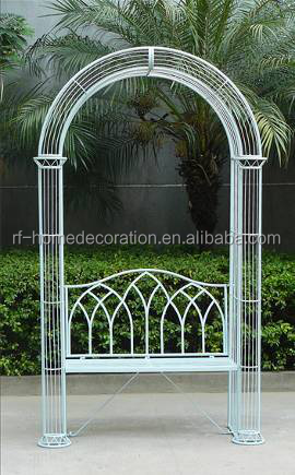 Metal Garden Arch With Seat, Metal Garden Arch With Seat Suppliers And  Manufacturers At Alibaba.com