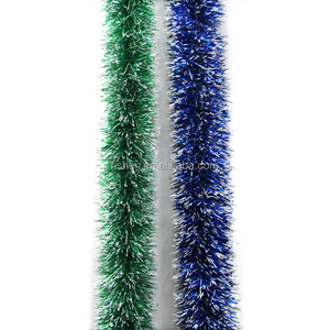 2M xmas decorations wire garland artificial glitter christmas tinsel