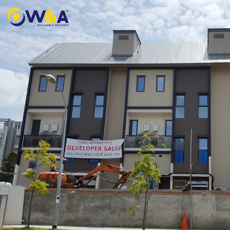 (WA-1566)Double Storey Accommodation Glass House Kits Prefab Office Living House Livable