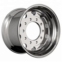 22.5*9.5 semi tubeless aluminum forged 10 holes truck wheels