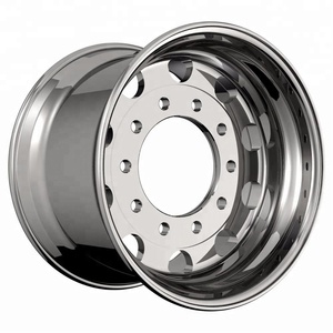 22.5*9 semi tubeless aluminum forged 10 holes truck wheels