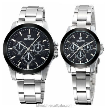 2015 high quality luxury watches unisex, 1atm stainless steel couple lover wrist watch