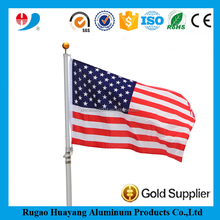 Top quality 16FT/20FT/25FT aluminum telescopic flag pole supplier