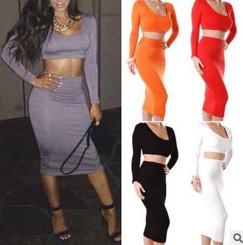b7f6d6805e China online shopping new design western dress 2pcs shirt+skirt ladies  night dress