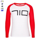 two-color long sleeve new york wholesale two tone t-shirt