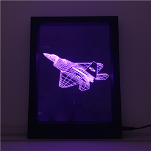 Laser Cutting Acrylic 3D led visual light photo frame style night lamp with factory price