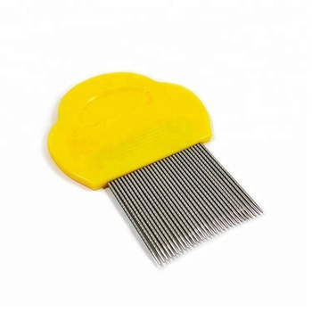 Cat dog pet metal stainless steel head nit lice comb,lice comb for pet