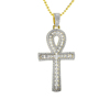 Wholesale hiphop style micro paved cz zircon religious cross charms pendants with 14k gold chain