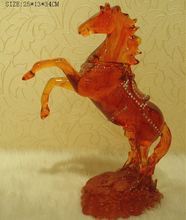 Polished imitation jade fairy lifelike polyresin horse figurine
