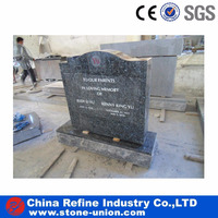 Granite Blue Pearl Carved Cemetery chinese tombstone headstone