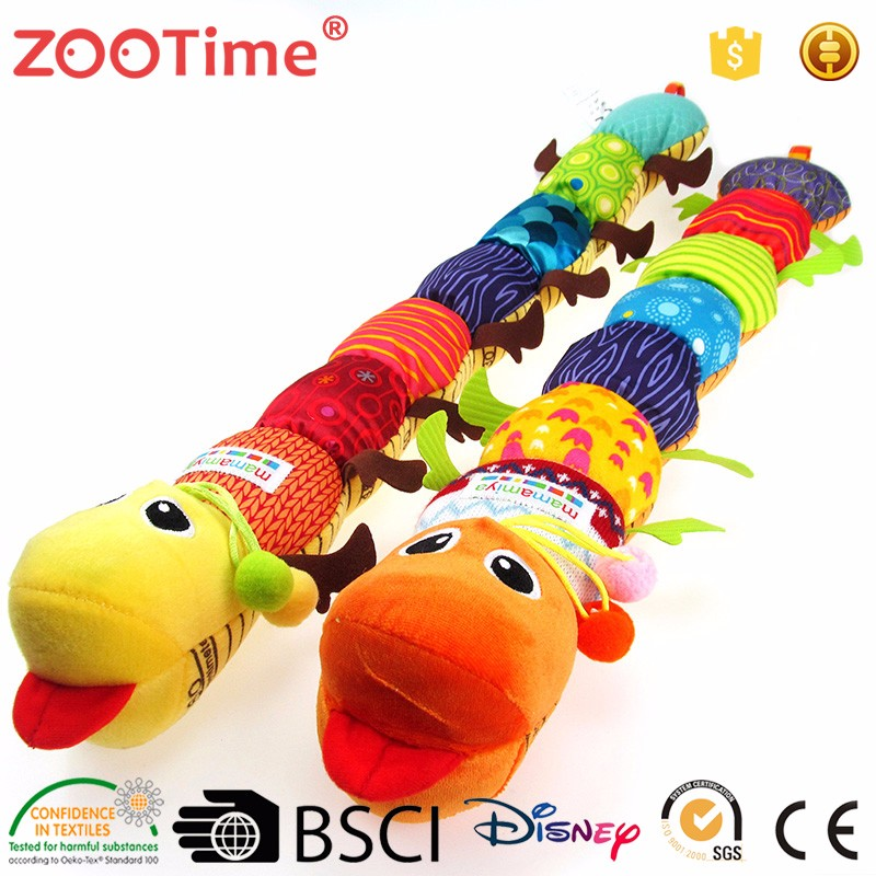 Funny fabric baby plush stuffed toy caterpillar toys made in china
