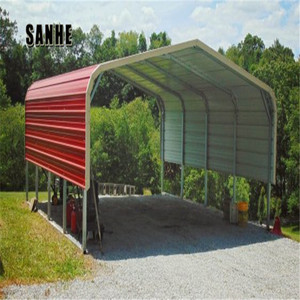 Strong and durable metal car parking shade canvas carport covers