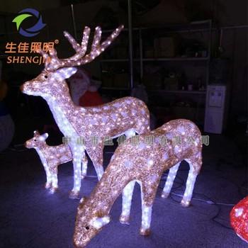 supermarket outdoor decoration christmas snowman led 3d deer motif light