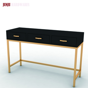 Eco-friendly high grade bedroom metal and wood dresser table for sale