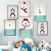 Cartoon Animals Canvas Art Print Painting Poster Wall Picture for Home Decoration Wall Decor A4 Art Prints Kids Poster Cartoon