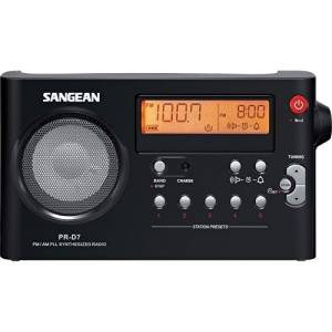 "Sangean America, Inc - Sangean Pr-D7 Desktop Clock Radio - Fm, Fm, Am, Am - Battery Rechargeable - Manual Snooze ""Product Category: Radios/Clock Radios"""