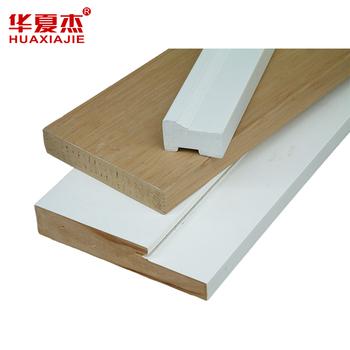 Waterproof Woodgrain Texture Wpc Door Jamb Pvc Door Frame - Buy ...