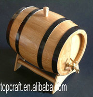 wine barrels with pine wood