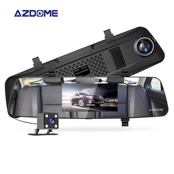 AZDOME Multi Language Rearview Mirror Car Black Box With Parking Monitoring