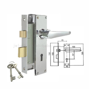 Aluminium Lockset 746 Lever Door Handle Lock
