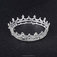 Wholesale Full Circle Gold Prom Accessories Queen Women's Crown Round