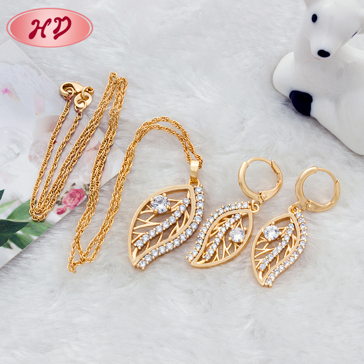 Hot Selling Chinese 18 k gold plating jewelry set, wedding jewelry set for women