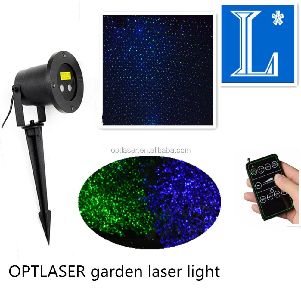 Optlaser Green and Blue Outdoor garden laser lights for Landscape Christmas waterproof laser projector with ce rohs ip65
