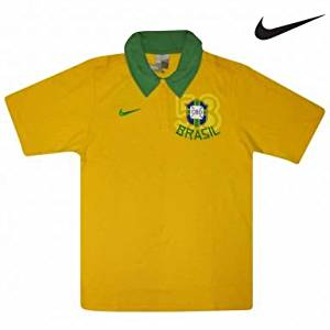 f6afb111652 Get Quotations · Brazil Football Crest World Cup Polo Shirt