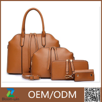 4 PCS PU leather designer woman fashion handbag set 2016