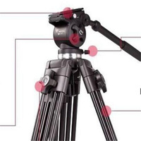 high qualityWeifeng 717 tripod/monopod/Professional Camera Tripod three-dimensional Video Camcorder WF717 Tripod Fluid Pan Head