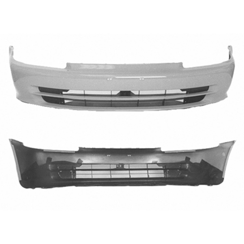 Crash Parts Plus Primed Front Bumper Cover for 92-95 Honda Civic HO1000142
