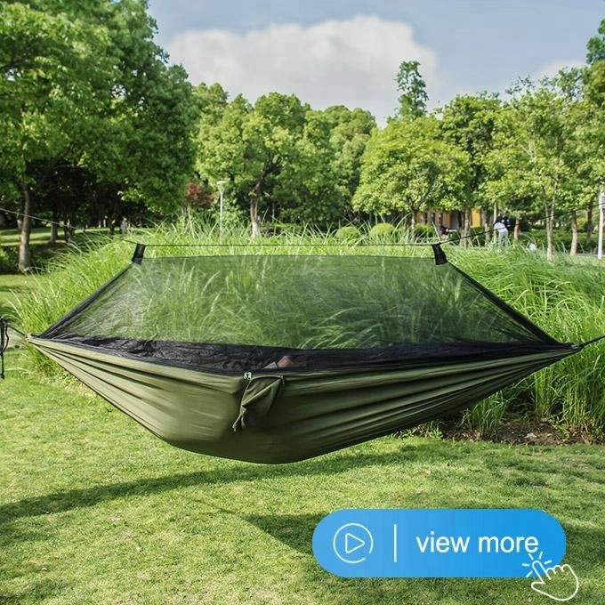 Earnest Ultralight Hanging Bed Mosquito Net Outdoor Hunting Hammock Camping Mosquito Net For 2 Person Travel Home Travel Net Leisure Bedding