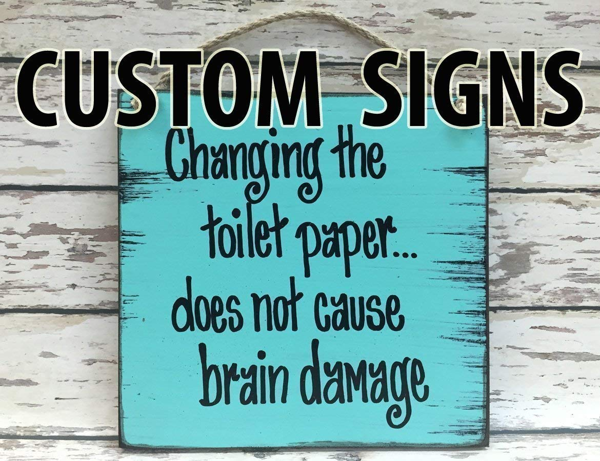 CUSTOM PERSONALIZED Wood Reclaimed Wall Sign 8X9 Distressed Wood Wall Sign *Blue, Antique Cream White, Tan Brown *Customize your own saying! *Make a perfect gift for someone special!