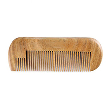 WB200-99 Customized Your Logo Green Sandalwood Wooden Beard Comb