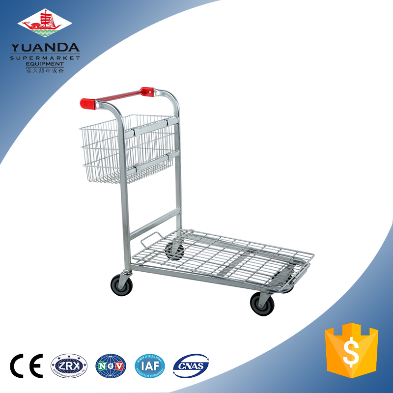 Portable powder coating flat trolley with basket supply