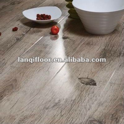 8.3mm/12.3mm Brown/Green HDF CE approved laminate flooring