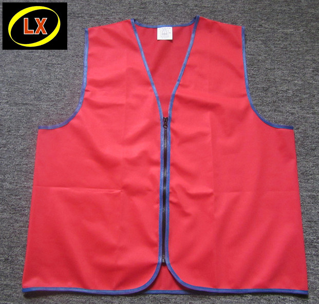 (High) 저 (가시성 (visibility) Red Workwear Vest, Red 작업자 Vest, Red 일 Vest 와 PVC ID card pocket